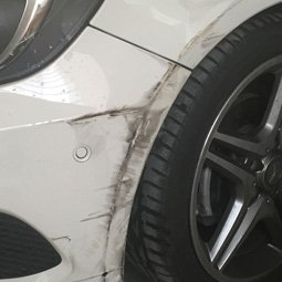 Mercedes A180 Before Touch Up Paint