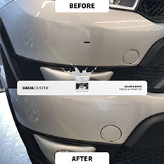 Before & After - Color N Drive Touch Up Paint