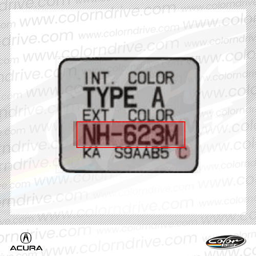 Acura Paint Code Label