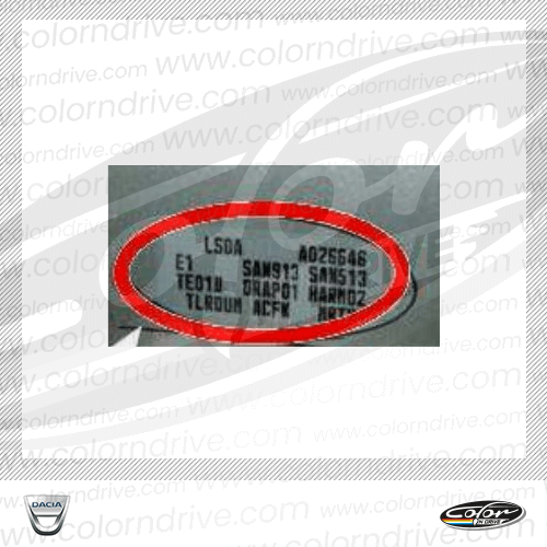 Dacia Paint Code Label