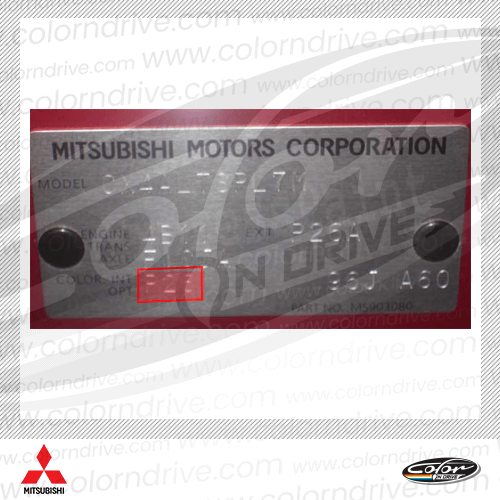 Mitsubishi Paint Code Label
