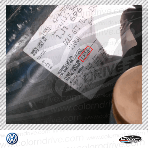 Volkswagen Paint Code Label