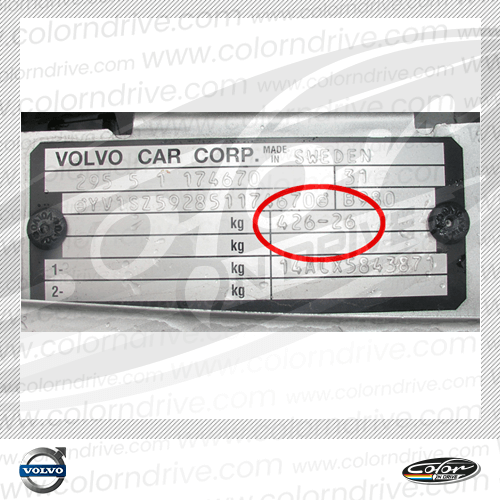 Volvo Paint Code Label