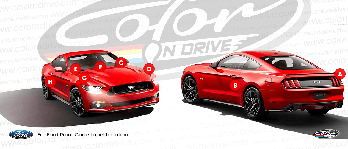 Ford Australia Paint Code Location