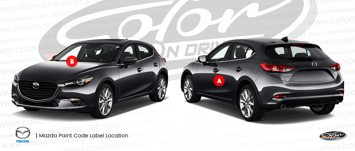 Mazda Paint Code Location