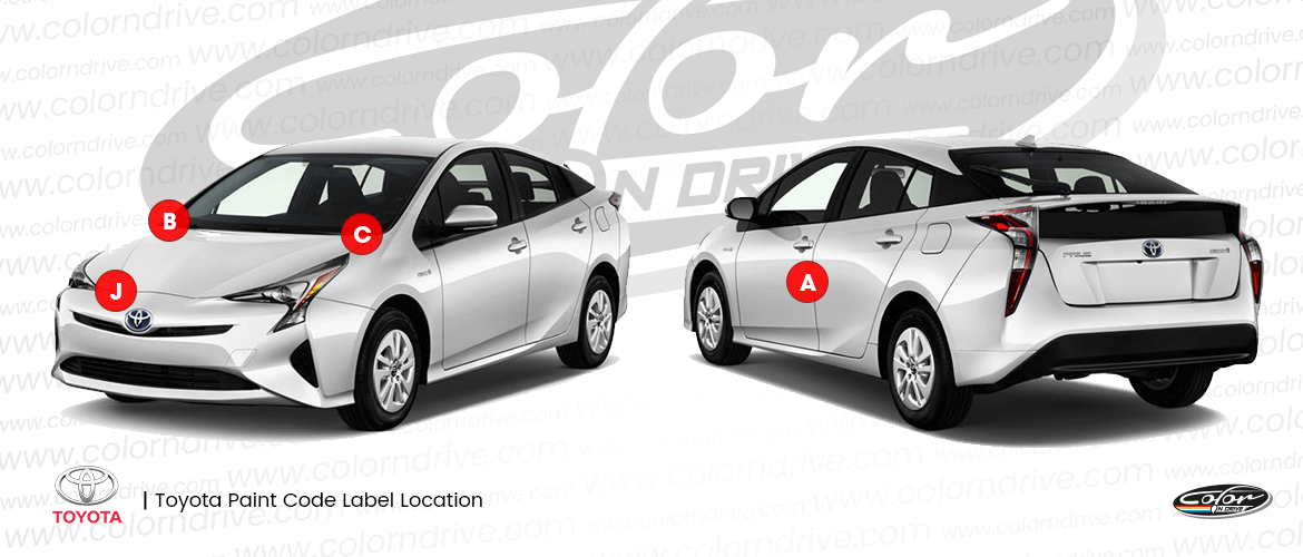 Toyota Paint Code Label Locations