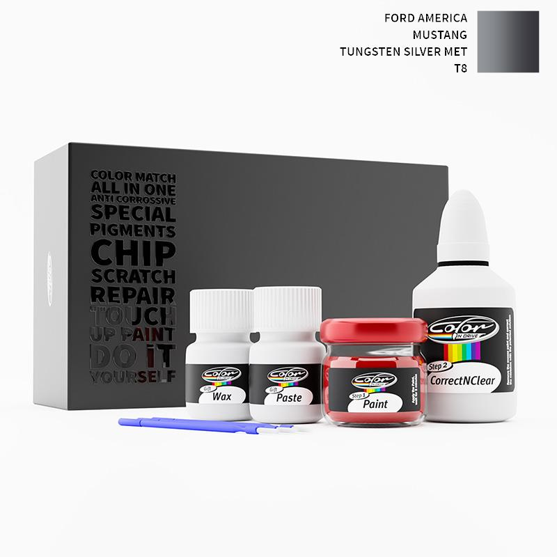 Ford America Mustang Tungsten Silver Met T8 Touch Up Paint